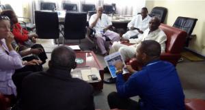 Rencontre représentante USAID, HI, AKN, DG HNN